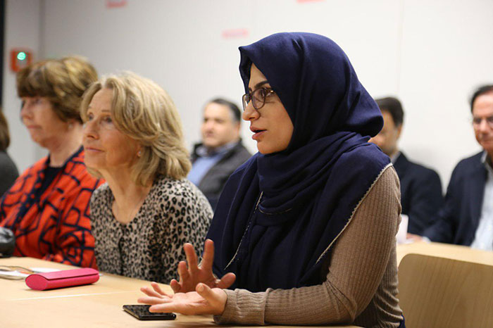 Frames from Cultural, Social Role of Muslim Women in EU conf.