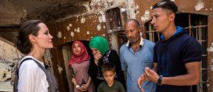 Angelina Jolie visits Iraq's devastated Mosul