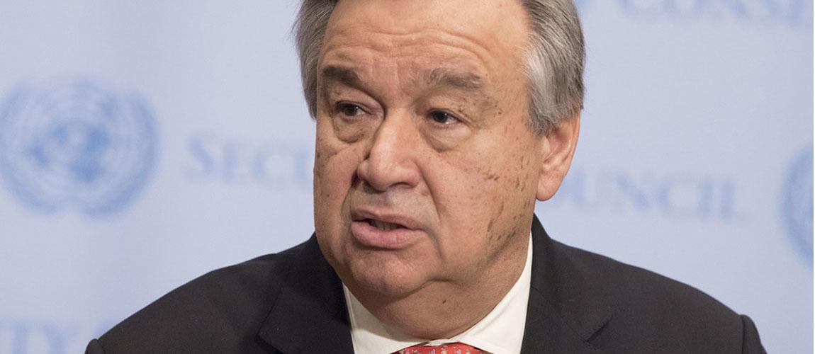 Guterres deplores loss of life, attacks against Catholic Church